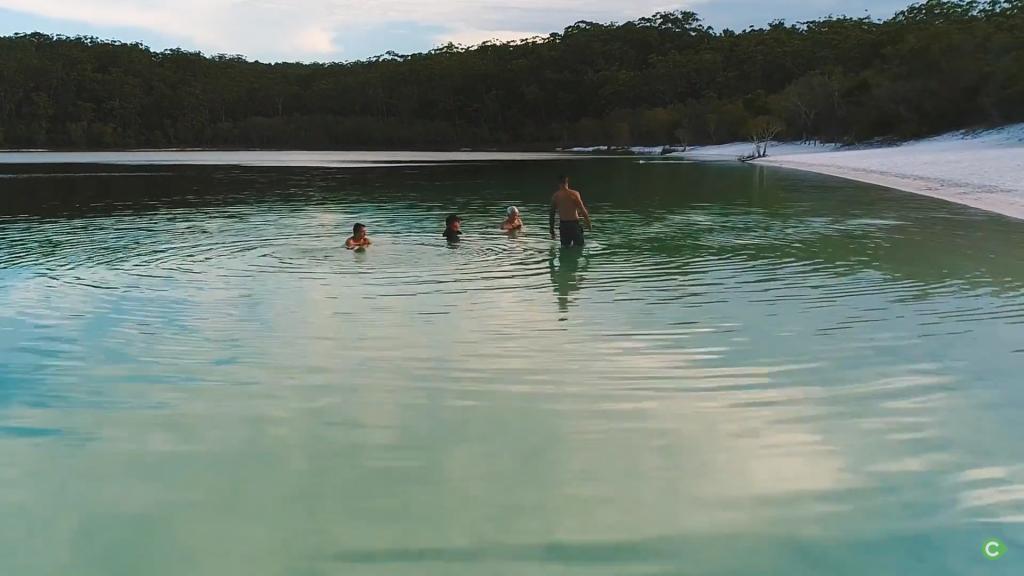 Swimming in Lake Mckenzie