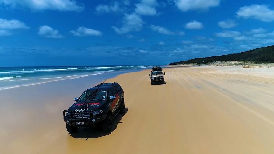 Fraser Island Beach driving