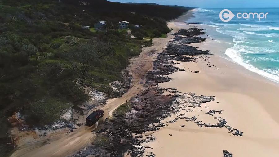 champagne pools on Fraser Island, Australia