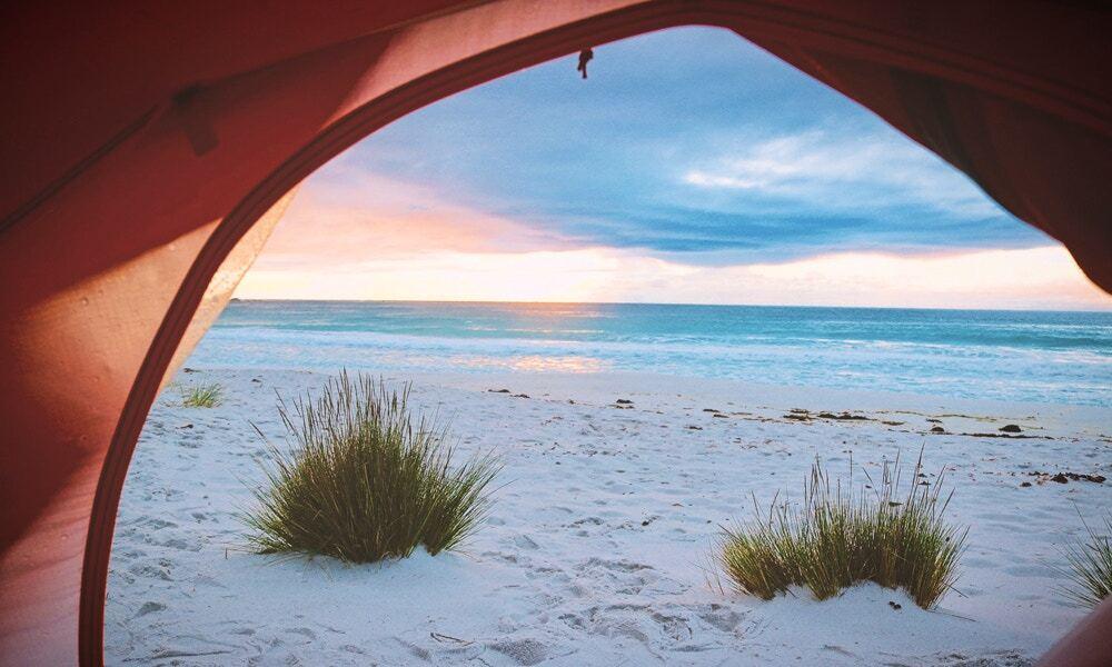 double island beach camping